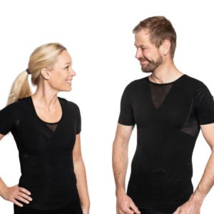 holdningskorrigerende tøj til mænd og kvinder t-shirt